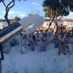 Super fiesta de la espuma